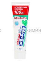 Невская косметика Зубная паста Новый Жемчуг 100 мл. КОМПЛЕКС сильная мята (синяя) *8*32