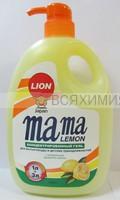 Mama Lemon КУРОК концентрированный гель для посуды и детских принадлежностей с ЛИМОНОМ 1 л 6*12