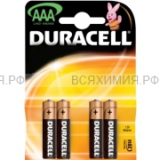 4-х штучная Батарейка Дюраселл AAA (мал.пальч.) mn 2400 *6*12