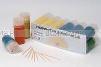 Зубочистки 100 шт. в пласт. баночке (480) (С)
