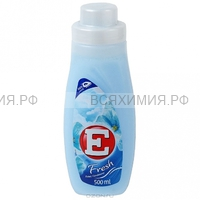 Кондиционер для ткани -Е- 500 мл. ФРЕШ (синий) *6*12
