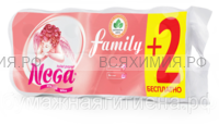 Туалетная бумага Nega FAMILY белая 2-х слойная 8+2 шт. *4