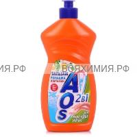 АОС Средство для мытья посуды 450мл. РОМАШКА + ВИТАМИН Е 10*20*