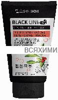 BLACK LINE Энергетический Гель-Скраб-Маска 3 в 1  с древесным углем 150мл *3*9