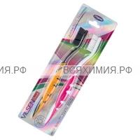 VILSEN зубная щетка Черная+Белая принцесса набор из 2-х шт. средней жесткости *12*144*