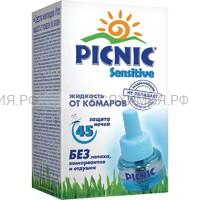 Picnic Sensitive 30мл жидкость от комаров 45 ночей