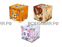 Косметические салфетки ZEWA Kids 60 листов 3-х слойные белые *18