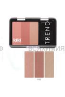 КИКИ Румяна для лица TREND 602 персиковый,кирпично-коричневый,песочно-бежевый