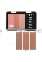 КИКИ Румяна для лица TREND 603 светло-шоколадный,тёмно-персиковый,бежево-карамельный