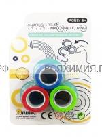 Игра анти-стресс Магнитные кольца  Блистер 3 кольца/уп (в ассортименте) *10