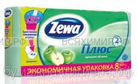 Туалетная бумага Zewa+ 2-х сл. 8 шт. *12 яблоко