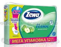 Туалетная бумага Zewa+ 2-х сл. 12 шт. *7 яблоко