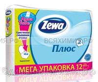 Туалетная бумага Zewa+ 2-х сл. 12 шт. *7 белая