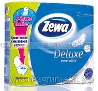 Туалетная бумага Zewa Deluxe 3-х сл. 4 шт. *14 белая