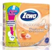 Туалетная бумага Zewa Deluxe 3-х сл. 4 шт. *14 персик