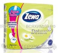 Туалетная бумага Zewa Deluxe 3-х сл. 4 шт. *14 ромашка