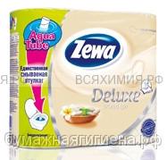 Туалетная бумага Zewa Deluxe 3-х сл. 4 шт. *14 арома спа
