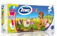 Туалетная бумага Zewa Deluxe Kids 3-х сл. 8 шт. *7 ДЕТСКАЯ
