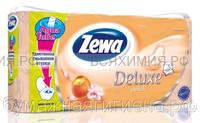 Туалетная бумага Zewa Deluxe 3-х сл. 8 шт. *7 персик