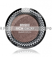 ЛюксВизаж Тени моно метал RICH GLOW 6 золотисто-коричневый