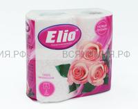 Туалетная бумага ELIO 2-х сл. розовая (12)