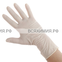 Перчатки латексные медицинские опудренные S 100шт *1