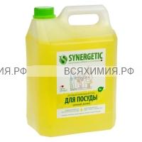 SYNERGETIC 5л Средство для мытья посуды ЛИМОН *1*4