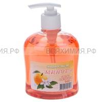 МИНУТА Жидкое мыло с ДОЗАТОРОМ Цветы апельсина 500мл *6*12