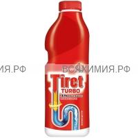 ТИРЕТ Гель для чистки труб ТУРБО 1000 мл. *6*12*720 красн.