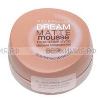 МЭЙБЕЛИН тональный крем Dream matte mouse т.026 медовый