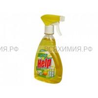 ХЕЛП Средство для стекол КУРОК Лимон 750 мл 6 *12