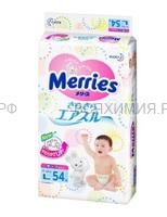 MERRIES Подгузники для детей L 9-14кг /54шт *1*4