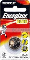 1 шт. Энерджайзер Батарейка (Таблетка) CR 2025 *5*10