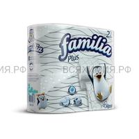 ХАЯТ Familia Plus Туалетная бумага белая двухслойная, 4 шт *16