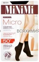 МИНИМИ Носки МИКРО 50 Nero (1 пара) *5*