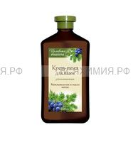 Целебные рецепты Крем - пена для ванн успокаивающая Можжевельник и масло мяты 600 мл 6*12