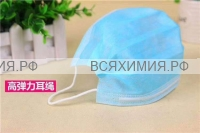 Маска защитная 3-х слойная на резинках (размер 170*90) *20