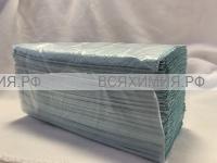 Листовые полотенца V-сложения Неженка Prof однослойные 250л. зеленые (влагопрочное вторичное сырье) *20