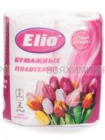 Полотенца бумажные ELIO 2-х сл. розовые  (12)