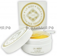 La Miso Гидрогелевая маска (Патчи) с частицами золота для кожи вокруг глаз *1