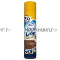 Magic Line Аэрозоль 650мл Пенный очиститель изделий из кожи (мебель, одежда, обувь) *3