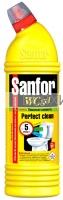 Санфор WС гель Лимонная свежесть жидкость для чистки и дезинфекции 750 гр. *5*15
