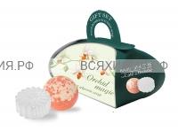 Набор Магия Орхидеи (мыло глицериновое 80 гр + бурлящий шар 110 гр) *6*12