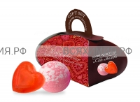 Набор С Любовью (мыло глицериновое 80 гр + бурлящий шар 110 гр)  *6*12