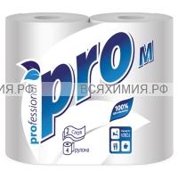 Туалетная бумага PROtissue 2-х сл. 4 шт. белая M *24 (C54)