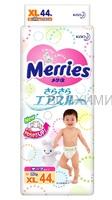 MERRIES Подгузники для детей XL 12-20 кг /44 шт *1*4