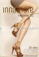 Иннаморе носки Minielle 20 nero Lycra (по 2-е пары)