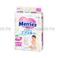MERRIES Подгузники для детей М 6-11 кг /64шт *1*4