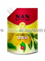 NAN ЗАПАСКА средство для посуды и детских принадлежностей Сладкий лимон 800 мл *4*8