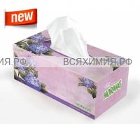 Norang ВЫТЯЖНЫЕ Двухслойные салфетки для лица  250шт Фиолет.цветы *4*24